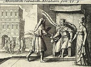 Abimelech rebuking Abraham by Wenceslas Hollar...