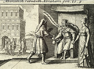 "Wife–sister narratives in the Book of Genesis - Abimelech rebuking Abraham by Wenceslas Hollar. Abimelech asks Abraham, ""What has thou done unto us?"""