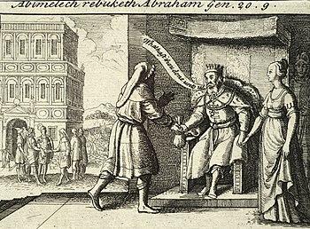 Wenceslas Hollar - Abimelech rebuking Abraham (State 2)