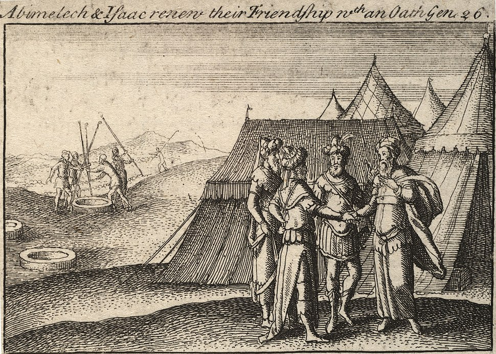 Wenceslas Hollar - Isaac and Abimelech (State 2)