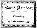 """Werbeanzeige der Firma """"Gast & Maseberg"""" von 1893.jpg"""