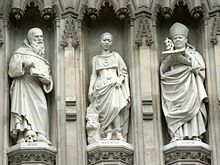 Statues of martyrs at Westminster Abbey with Janani Luwum on the right