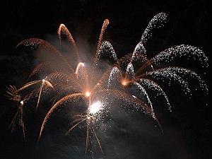 Fogos de artifício para celebrar a chegada do Ano-Novo em Seaport Village