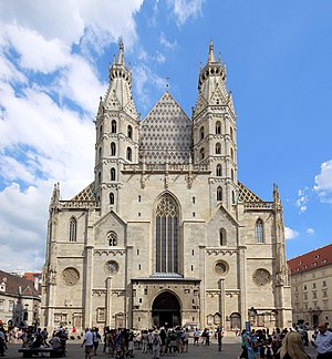 St. Stephen's Cathedral, Vienna - Romanesque Towers on the west front, with the Giant's Door
