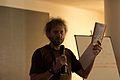 Wikimania 2009 - Adam Hyde - Objavi books.jpg