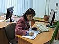 Wikiworkshop at Library of S. Kuznets KhNUE 2019-02-13 by Наталія Ластовець 22.jpg