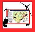 Wildlife and Habitat Risk Map for Wind Energy Projects for North Carolina (9080118834).jpg