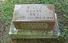 Will Cuppy grave marker.jpg