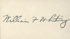 William F. Whiting - Image: William F. Whiting's signature