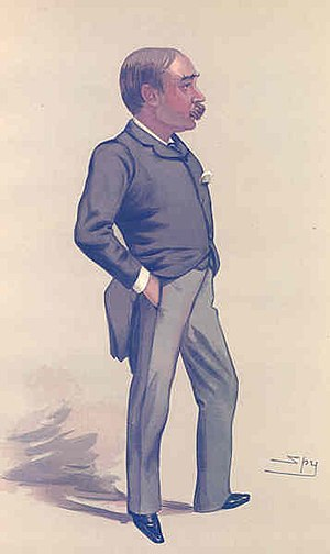 "William Hurrell Mallock - ""Is life worth living?"" W. H. Mallock as caricatured by Spy in Vanity Fair, December 30, 1882."