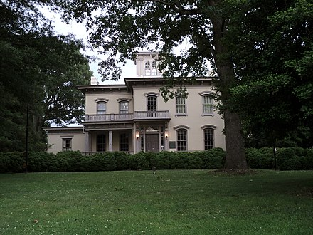 William T. Sutherlin Mansion, Danville, Virginia, temporary residence of Jefferson Davis and dubbed Last Capitol of the Confederacy William T Sutherlin Mansion Danville Virginia.JPG