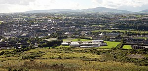 County Carlow - Windmill Hill, Enniscorthy, Blackstairs Mountains on the horizon.