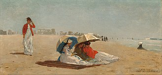 East Hampton (village), New York - East Hampton Beach in 1874, by Winslow Homer