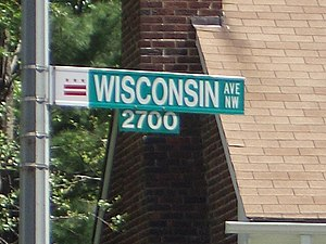 Wisconsin Avenue - Wisconsin Avenue street sign