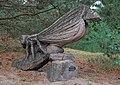 Wooden bird sculpture by Roel van Wijlick in De Maasduinen National Park, NL (DSCF7763).jpg