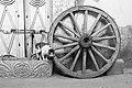 Wooden wheel with cat and art deco doors.jpg