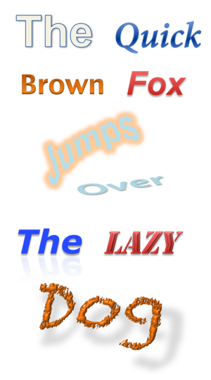 Microsoft Office shared tools - Image: Word Art 2010