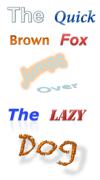 Microsoft Office shared tools - Image: Word Art 2010