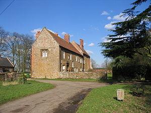 Wormleighton Manor - The bay window can be seen