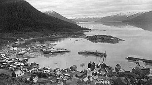 Wrangell, Alaska - Bird's Eye view, 1897