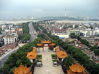 Hanyang District - Wuchang (foreground) and Hanyang (background) seen from the Yellow Crane Tower
