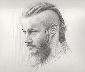 Travis Fimmel - Drawing of Travis Fimmel as Ragnar Lothbrok