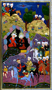 Yadkar al-Katib - Alexander the Great at the Fountain of Life with the Prophets Khidr and Ilyas - Walters W607258B - miniature.jpg