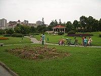Yangzhou - park at Wenchang Lu and Weiyang Lu - CIMG3415.JPG