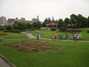 Hanjiang District, Yangzhou - Image: Yangzhou park at Wenchang Lu and Weiyang Lu CIMG3415