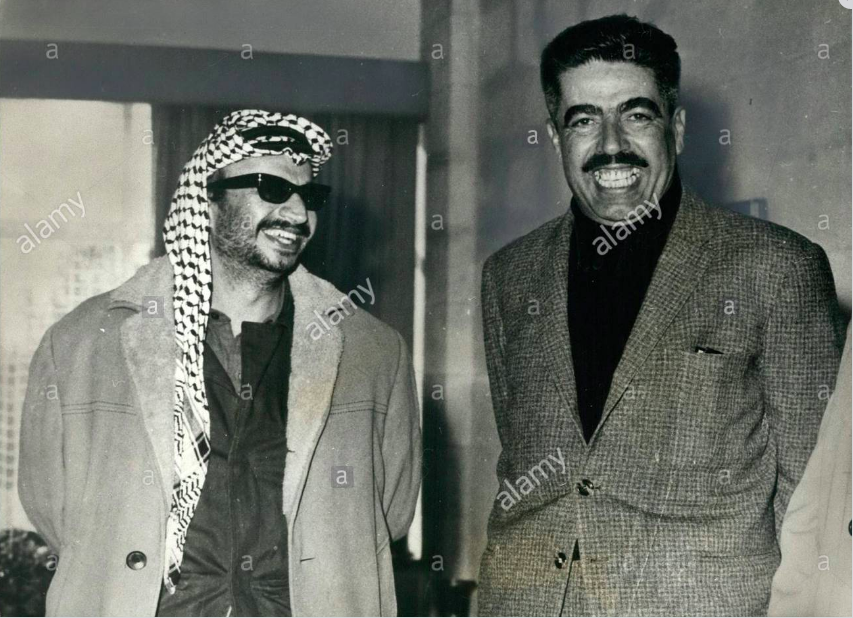 Yasser Arafat and Wasfi Al-Tal