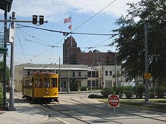 TECO Line Streetcar System - Image: Ybor Streetcar Do Not Enter Aug 08