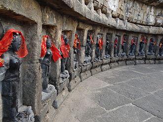 Yogini - Chausathi Jogini ('Sixty-four Yogini') Temple located at Hirapur, Odisha.