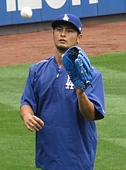 Yū Darvish jako zawodnik Los Angeles Dodgers