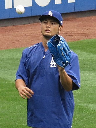 Yu Darvish - Darvish with the Dodgers in 2017