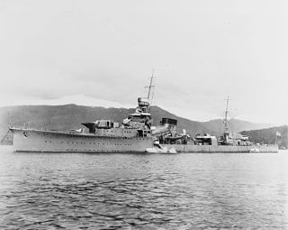 Japanese cruiser <i>Yūbari</i> light cruiser of the Imperial Japanese Navy
