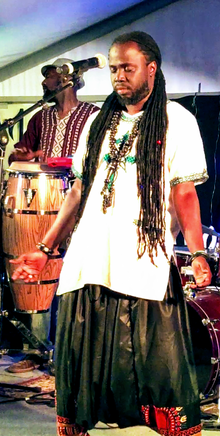 Yusupha Ngum performing and the Affia Band Nov 2018a.png