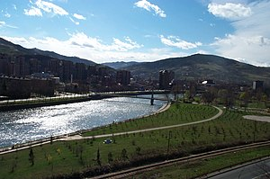 Bosna (river) - The Bosna River flowing through Zenica.
