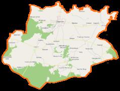Mapa lokalizacyjna gminy Zagórów