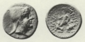 Zariadres - Image: Zariadres coin 190 BC