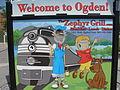 Zephyr Grill's Welcome to Ogden standin sign.JPG