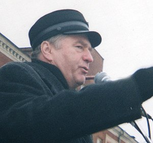Russian presidential election, 2000 - Liberal Democratic nominee Vladimir Zhirinovsky campaigning