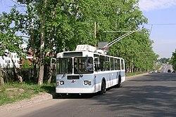 ZiU-9G trolleybus in Nizhny Novgorod, Vaneev Street