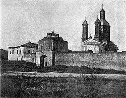 Zid de incintă al Mânăstirii Negoiești.jpg