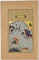 """Bahram Gur on the Chase"", Folio 10r from a Haft Paikar (Seven Portraits) of the Khamsa (Quintet) of Nizami MET DP159379.jpg"