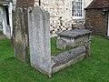 """Hog back"" gravestone in St. George's churchyard - geograph.org.uk - 1048790.jpg"