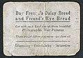"""""""King Alexander of Servia"""" Series 5, Freund's Daisy Bread War Cards. Reverse.jpg"""