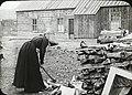 """Man wanted"", woman chopping wood (S2004-1005 LS).jpg"