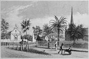 """""""Public Square, St. Augustine."""", ca. 1858 - NARA - 513350"""