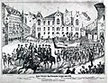 """St. Patrick's Day Procession in St. Louis, 1874"", west side of Seventh Street between Carr Street and Biddle Street.jpg"