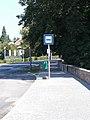 'Pápa, Strandfürdő (Színház)' bus stop, 2020 Pápa.jpg